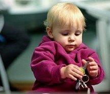 Spelende baby