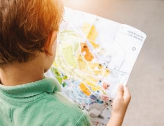 jongen plattegrond leren zomerdip