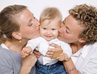 Lesbische ouders met kind